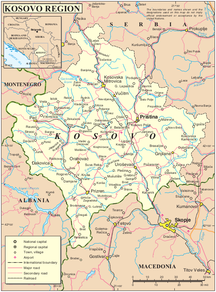 科索沃-地理-Kosovo map