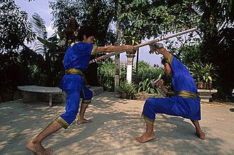 Dance in Thailand - Image: Krabi Krabong practitioners in Thailand