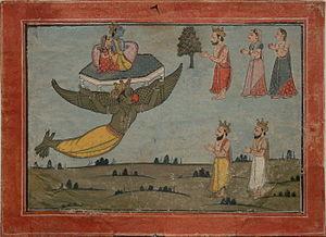 Parijata - Krishna and Satyabhama steal Indra's Parijata tree