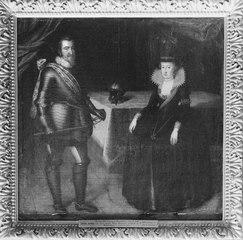 Kristian IV, 1577-1648, av Danmark och hans gemål, drottning Anna Katarina, 1575-1612
