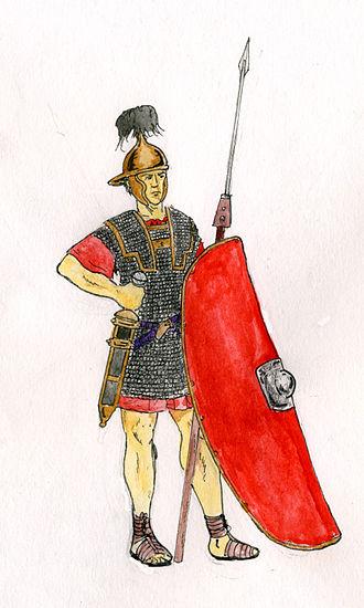 Battle of Fidentia (82 BC) - A rendition of a contemporary Republican era Legionary.