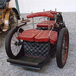 A voiturette is a miniature automobile
