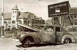 LaSalle 1940 Series 52 Sedan of Brigadier-Mallaby - Burnt Car - 194511