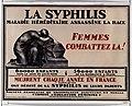 La Syphilis, maladie héréditaire assassine la race. Femmes combattez la!.jpg
