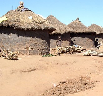 Lord's Resistance Army - The conflict forced many civilians to live in internally displaced person (IDP) camps, such as this Labuje IDP camp near Kitgum, Uganda in 2005