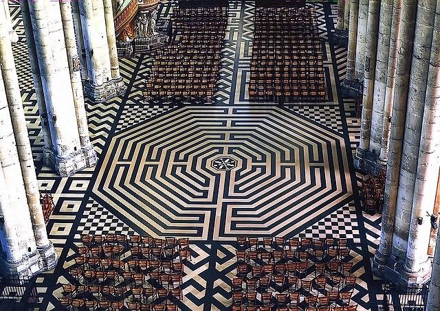Labirinto della cattedrale di Amiens
