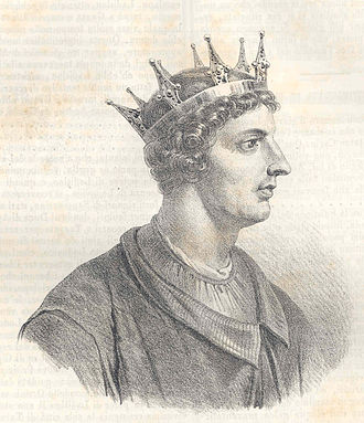 Ladislaus of Naples - A 19th century depiction of Ladislaus