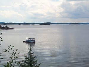 Duparquet, Quebec - A view of Lake Duparquet from Chemin du Lac, a waterfront road in Duparquet