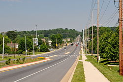 Lancaster Pike in Hockessin, facing north.JPG