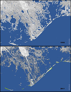 Coastal erosion in Louisiana