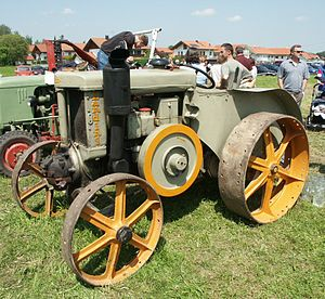 Flywheel - A Landini tractor with exposed flywheel