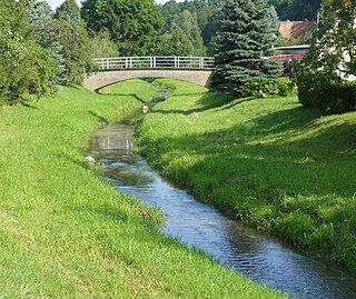 Landwasser (Mandau) river in Germany