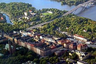 Långholmen - Aerial view of Långholmen.