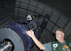 The 24.5 inch Cassegrain Telescope at the Goldendale Observatory State Park.