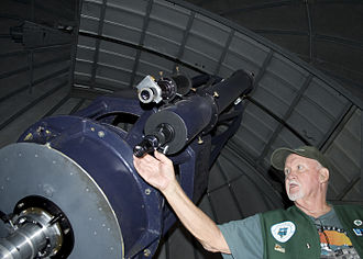 Goldendale, Washington - The 24.5 inch Cassegrain Telescope at the Goldendale Observatory State Park.
