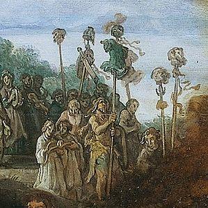 Lastman, Pieter - De offerstrijd tussen Orestes en Pylades - Detail arriving people (left).jpg
