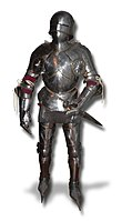 Late medieval armour complete (gothic plate armour).jpg