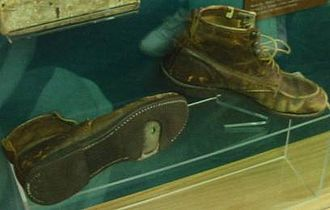 Lawton Chiles - Pair of Lawton Chiles' walking shoes on display at the Florida State Capitol.
