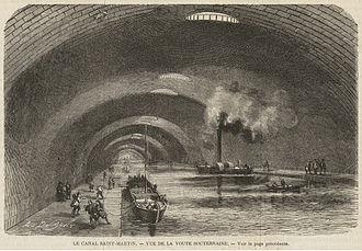 Canal Saint-Martin - The underground Canal Saint-Martin, 1862