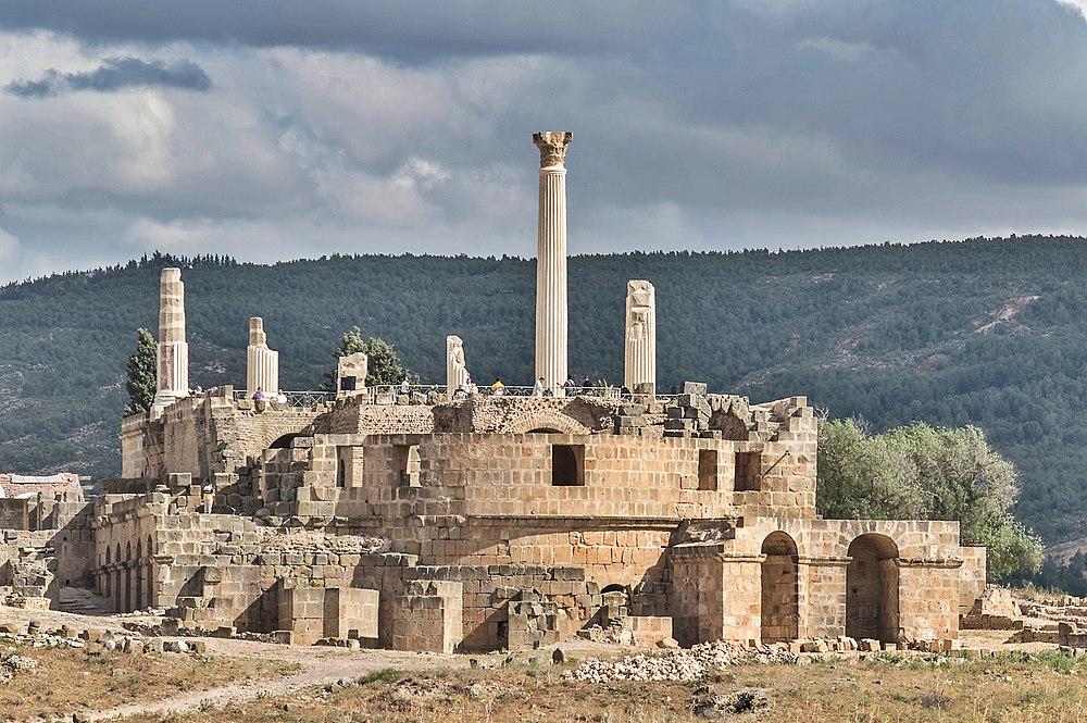 Le temple romain historique d'Oudhna