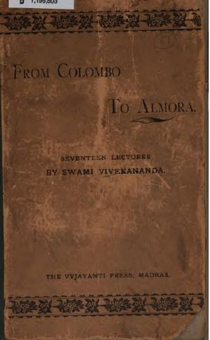 Lectures from Colombo to Almora - Front cover of 1897 edition