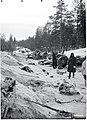 Lemetin tienristeyksen pohjoispuolella 21. tammikuuta 1940. SA-kuva.jpg