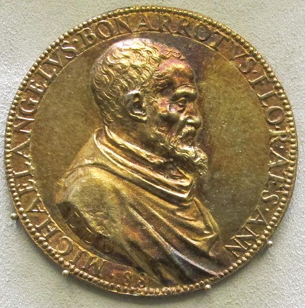 File:Leone leoni, medaglia di michelangelo, 1561.JPG