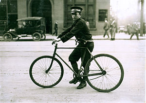 Telegram messenger - A typical bike messenger, Birmingham, Alabama, 1914