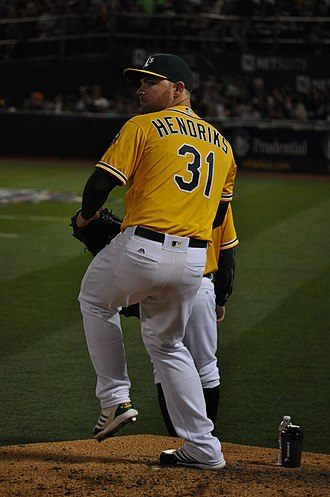 Liam Hendriks - Hendriks with the Oakland Athletics