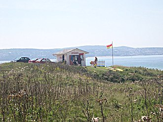 Gwithian - The lifeguard station on Gwithian Towans
