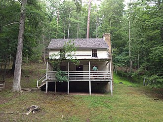 National Register of Historic Places listings in Hardy County, West Virginia - Image: Lighthorse Harry Lee Cabin Mathias WV 2014 06 21 04