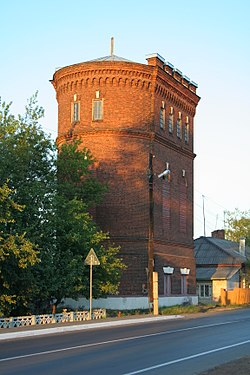 Water tower at the Likhoslavl railway station