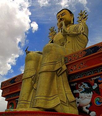 Ladakh - Statue of Maitreya at Likir Monastery, Leh district