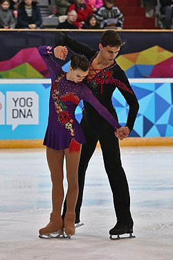 Lillehammer 2016 - Figure Skating Pairs Short Program - Anna Duskova and Martin Bidar.jpg