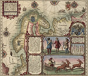 Willem Barentsz - Map of Willem Barentsz' first voyage