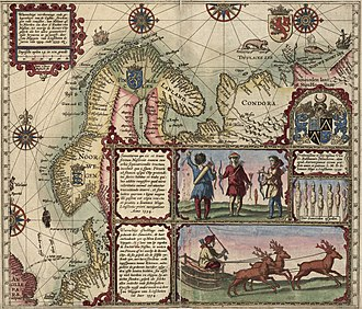 Willem Barentsz - Map of Willem Barentsz' first voyage