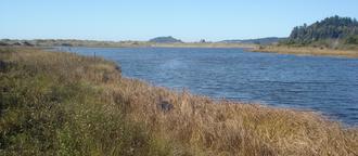 Little River State Beach - Little River estuary at the north end of Little River State Beach.
