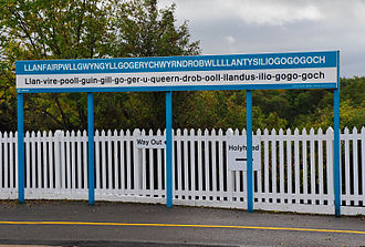 Llanfairpwllgwyngyll - The sign at the railway station gives an approximation of the correct pronunciation for English speakers.