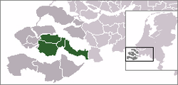Location of Zuid-Beveland (South Beveland)