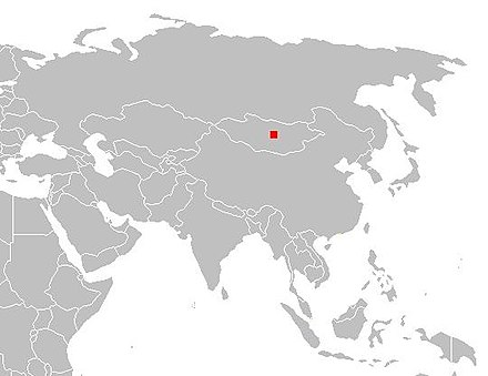 Location of the Orkhon Valley.