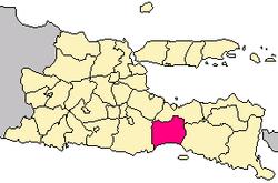 Emplacement dans l'est de Java