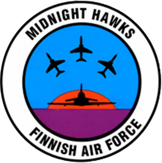 Midnight Hawks aerobatic team of the Finnish Air Force