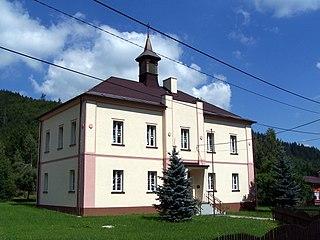 Dolní Lomná Village in Moravian-Silesian, Czech Republic