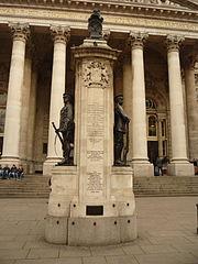 London Troops memorial, Royal Exchange