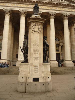 London Troops War Memorial - Image: London Troops memorial, Royal Exchange