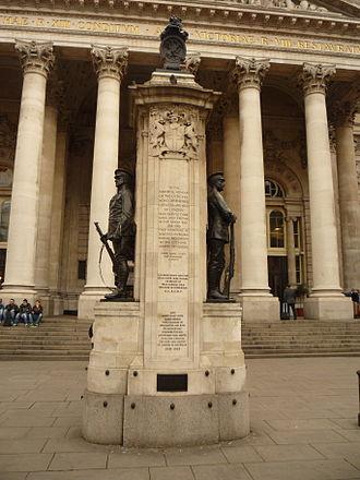 3rd Kent Artillery Volunteers (Royal Arsenal) - The London Troops Memorial.