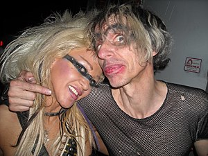 Lords of Acid - DJ Mea and Praga Khan (right) in Tulsa, Oklahoma, during their 2011 Sonicangel tour.