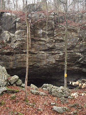 Lost Cove Cave - Image: Lost Cove Cave Second Entrance