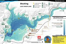 Boating Map of Lost Creek Lake