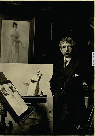 Louis Rhead - Rhead in his studio circa 1920